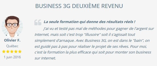 temoignage business 3g