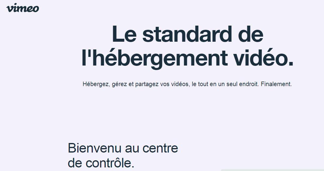 Vimeo : plateforme d'hébergement extérieur de vos vidéos de formation