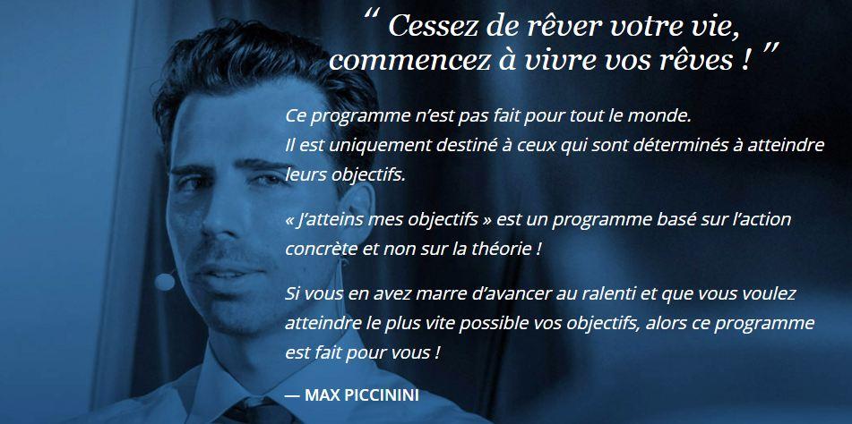 Les formations, coaching et séminaires de Max Piccinini