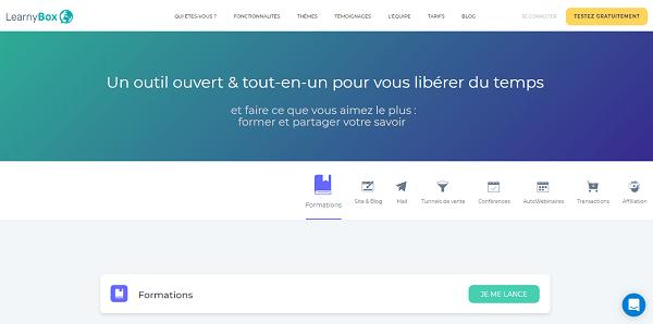 LearnyBox, un outil de business en ligne tout-en-un