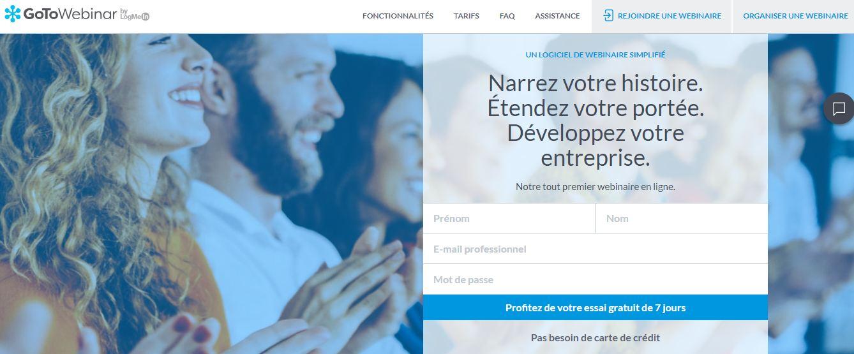 Gotowebinar, l'outil qui s'adapte aux besoins des webmarketeurs