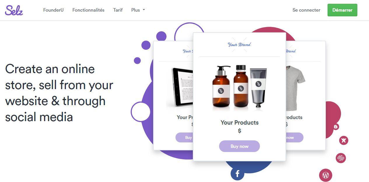 Selz : la plateforme de création de boutique en ligne