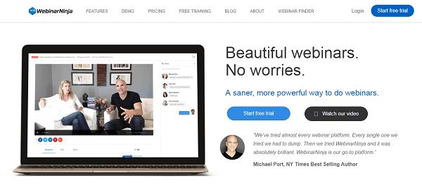 Webinar Ninja, plateforme webinaire leader dans son domaine