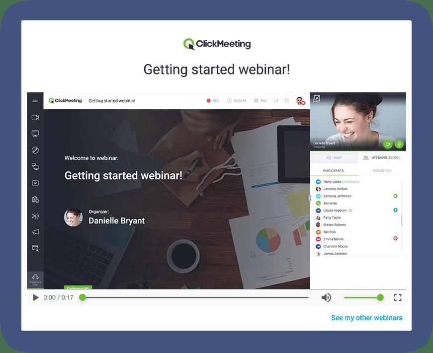 L'application ClickMeeting pour vos webinaires et web-conférences