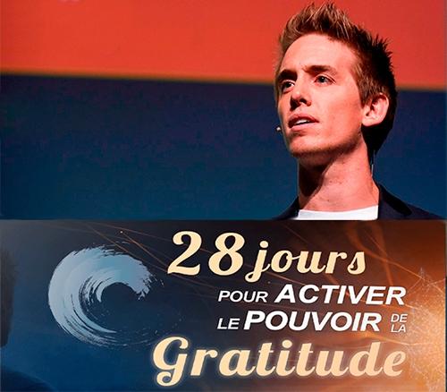 28 jours pour activer pouvoir gratitude