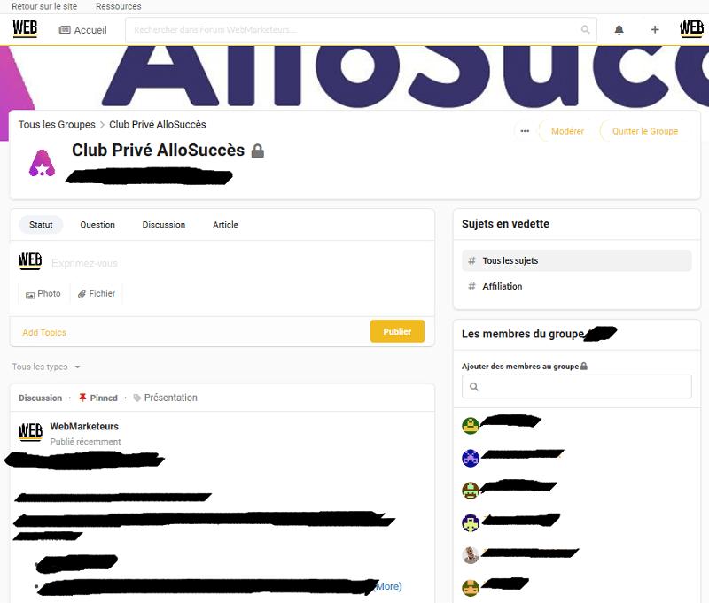club prive allosucces
