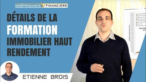 Avis Formation Immobilier Haut Rendement d'Etienne Brois